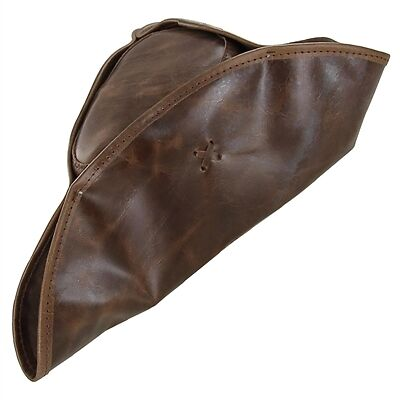 Real Leather Handmade Tricorn Pirate Hat