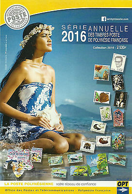New French Polynesia Complete   Year 2016 + Bookletts Mnh