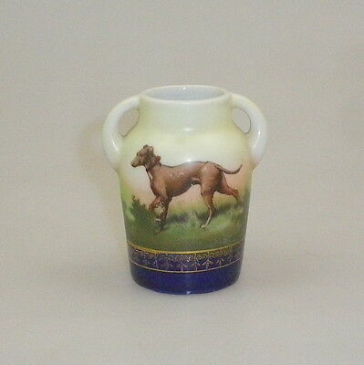 Vintage Hand Painted China Twin Handled Miniature Jug