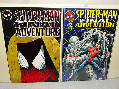Marvel Comics SPIDER-MAN THE FINAL ADVENTURE 2 BOOK LOT # 1 & 2 VF/NM 1995