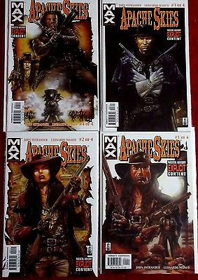 APACHE SKIES #1,2,3,4 (NM-) Full Set! 1st Apache Kid! Western Marvel Max 2002