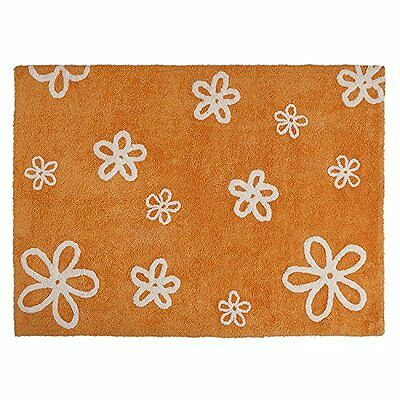Lorena Canals C-FL-7 Flores Orange Washable Rug, Arancione (Y6p)
