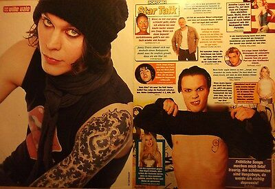 2 german clipping HIM VILLE VALO 1 SHIRTLESS TATTOO ROCK BOY BAND BOYS GROUP