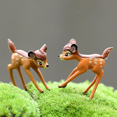 H Disney Deer Miniature Figurine Garden Ornament Plant Pot Fairy Dollhouse Craft