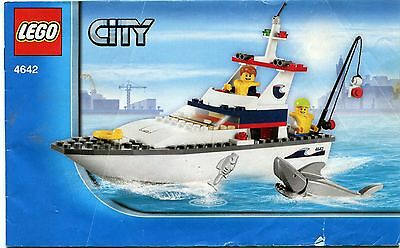 LEGO 4642 CITY Fishing Boat Instruction Manual : Booklet Only