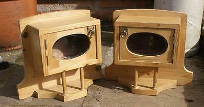 A Pretty  Little Pair Of Antique  Pine Dutch  Wall  Cabinets