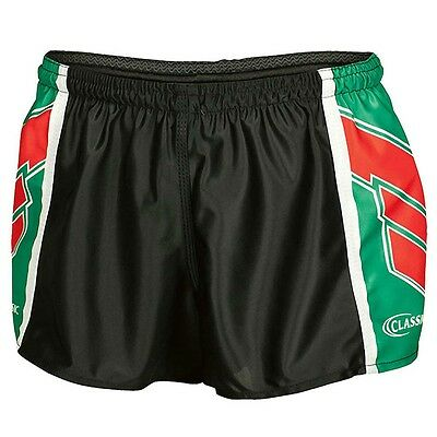 Classic MEN'S SOUTHS HERO FOOTBALL SHORTS, BLACK/GREEN/RED - Size 22, 26 Or 28