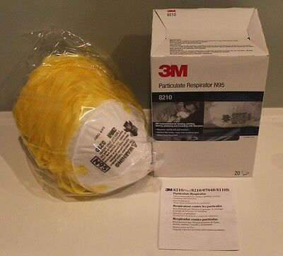 3M 8210+ N95 Approved Particle Respirator Face Mask Dust Filter Box of 20