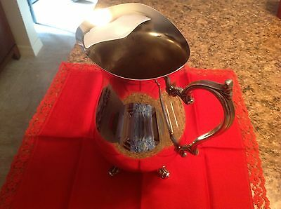 Wm Rogers 817 International Silver Co. Footed  Water Pitcher