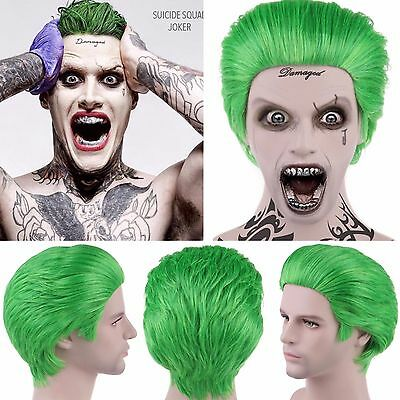 Suicide Squad Joker Fancy Dress Halloween Jared Leto Wig HM-045