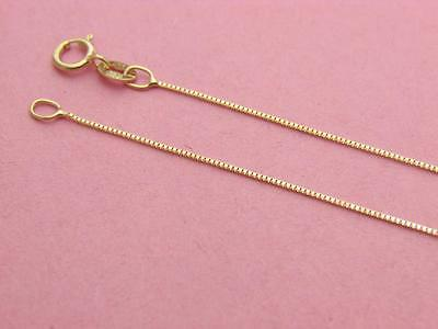 Solid 14K Yellow Gold BOX Chain Necklace  real gold **Wholesale Prices**