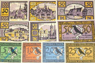10 x Notgeld Merseburg , 10 x german emergency Money , M/G 884.1 , kfr / unc
