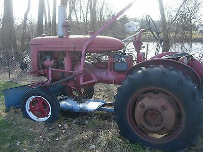 1947 IH Farmall Model A Tractor with plow