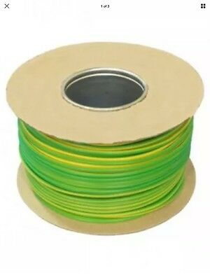 1.0mm Tri-Rated Cable in Green/Yellow - 100m on drum.