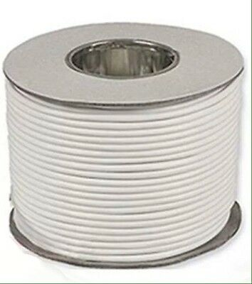 6491B 1.5mm White Single Cable - 100m on drum.