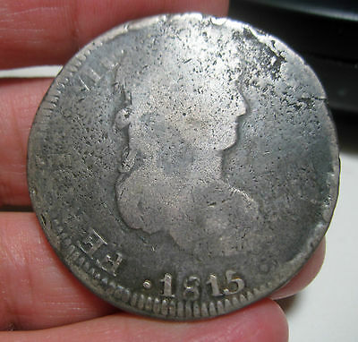 1815 AG ZACATECAS (MEXICO) 8 REALES (SILVER) ---- WAR of INDEPENDENCE-----
