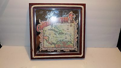 "Captain Morgan Rum 12"" x 12"" Framed Bar Mirror"