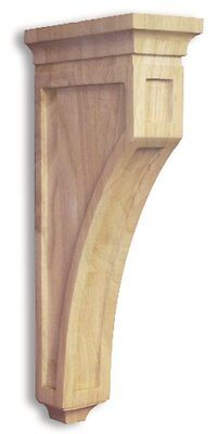 Mission Style Wood Bar Bracket Corbel Rubberwood
