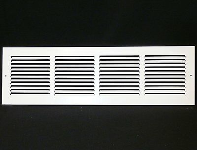 "24"" x 6"" RETURN GRILLE - Easy Air FLow - Flat Stamped Face"