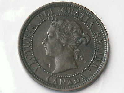 1881-H Canada Large Cent Foreign World Coin ( Vf+ , My Opinion )