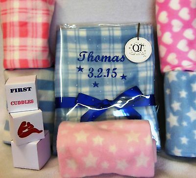 """Personalised Baby Pram Blanket.  Different Patterns  """"gift Wrapped"""""""