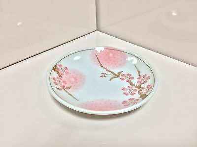 Japanese Dinner Plate Made In Japan Sakura Cherry Blossom Flower Design Dish F/S