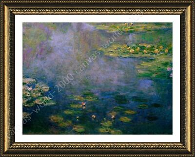 Water Lilies by Claude Monet | Framed canvas | Wall art paint oil painting HD