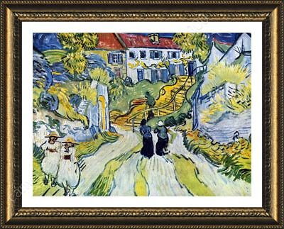 Stairway At Auvers by Vincent Van Gogh | Framed canvas | Wall art paint giclee
