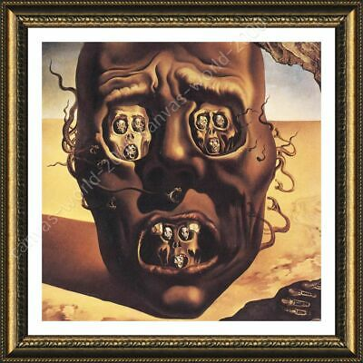 The Face Of War Skull by Salvador Dali   Framed canvas   Wall art print paint