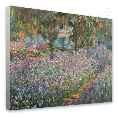 Irises by Claude Monet | Ready to hang canvas | Wall art paint print painting
