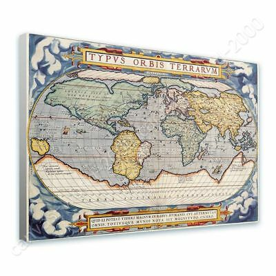Antique Old Vintage V3 by World Map | Ready to hang canvas | Wall art HD print