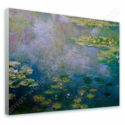 Water Lilies by Claude Monet | Ready to hang canvas | Wall art giclee painting
