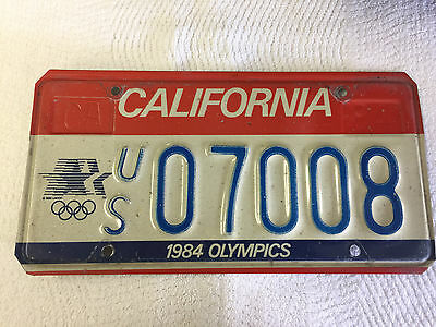 GENUINE- LOS ANGELES 1984 Summer Olympic Games License Plate (Used) - QTY 1