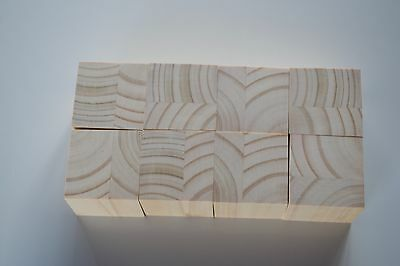Handmade unfinished Wooden Blocks 5 cm cube