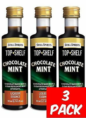 Still Spirits Top Shelf CHOCOLATE MINT - 3 Pack-Liqueurs Schnapps Homebrew