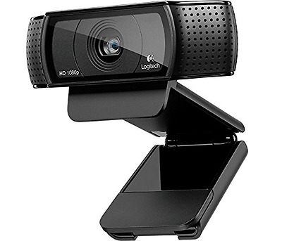 Computer Gaming Webcam Video Calls PC Blog Camera Logitech HD USB 1080p Dual Mic