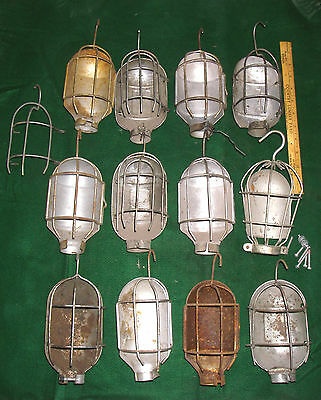 12 Vintage Metal Trouble Light Bulb Cage & Hanger Steampunk: Retro Lighting