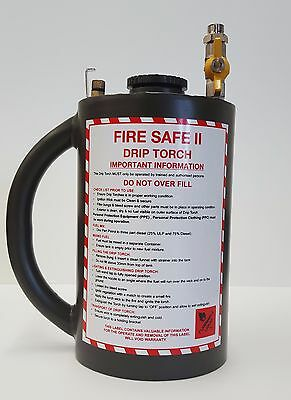 Drip Torch Fire Lighter powder coated Green 4L light weight canister with wand