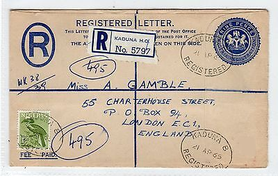 NIGERIA: 1965 Regstered envelope sent to London (C25295)
