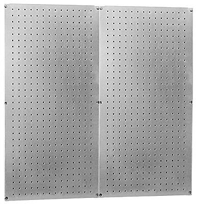 Heavy Duty Pegboard Round Hole Only Galvanized Steel Metal Peg Board Set - 32in