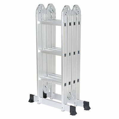 Finether 12.1ft Heavy Duty Aluminum Multi Purpose Folding Extension Ladder with