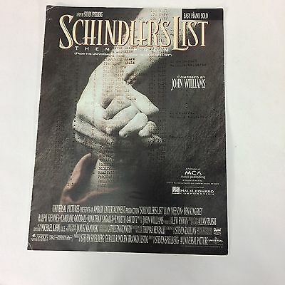 Theme From Schindlers List MCA Amblin sheet music piano 1993 MCA John Williams