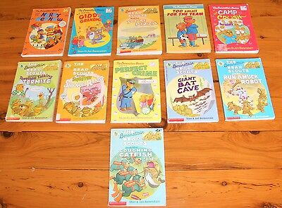 Bulk Lot of Berenstain Bears Chapter Books  Bear Scouts Scholastic - USED