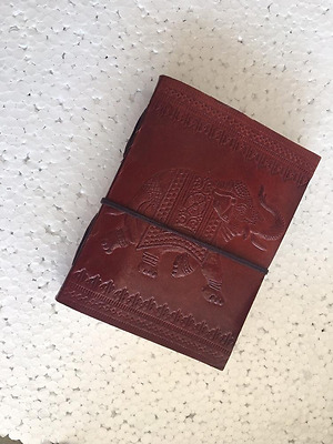 Leather Journal Writing Notebook, Antique Handmade Leather Bound Daily Notepad F