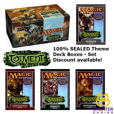 MTG Torment Theme Decks Grave Danger Insanity Sacrilege Waking Nightmares Intro