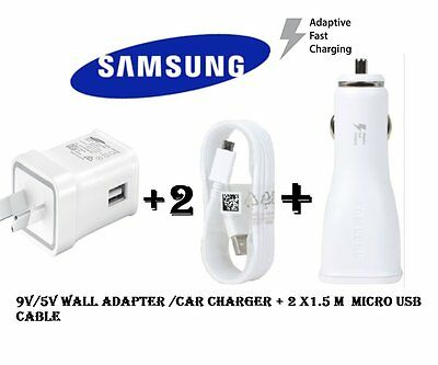 Samsung 9V 5V Adaptive fast wall charger car charger galaxy S6 S7 Edge Note 4