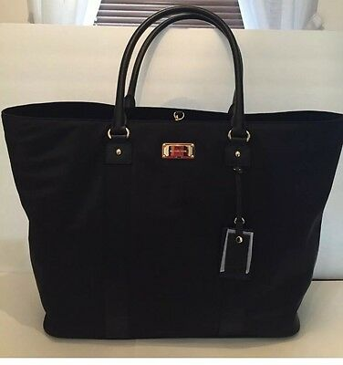 NWT Michael Kors XL Large Travel Weekend Black Nylon Tote Bag MSRP $298