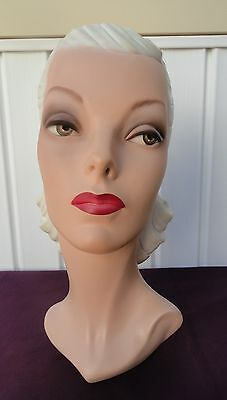 Decoeyes Mannequin Head/Bust Vintage 1940's Style Store Hat Display Emma