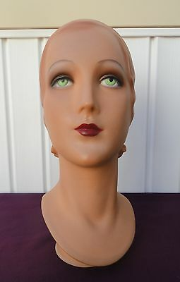 Decoeyes Mannequin Head/Bust Vintage 1920's Style Store Hat Display Ruby
