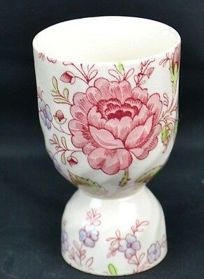 Double Egg Cup England Johnson Bros Rose Chintz